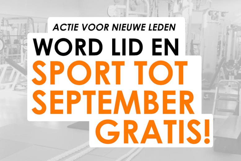 Zomeractie: word lid en sport tot september helemaal gratis!