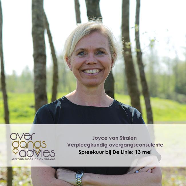 Verpleegkundig overgangsconsulente Joyce van Stralen houdt spreekuur bij De Linie